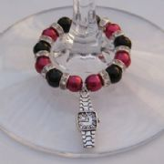 Watch Wine Glass Charm - Full Sparkle Style